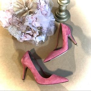 "J CREW ""EVERLY"" PINK SUEDE PUMPS (8.5M)"